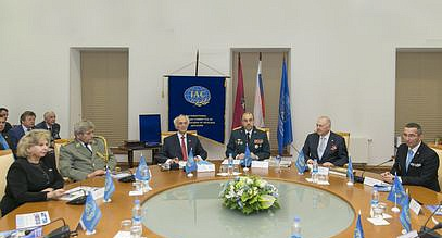 Meeting with military diplomats